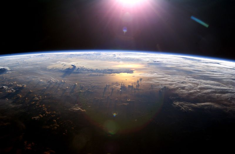 Earth-horizon-from-space